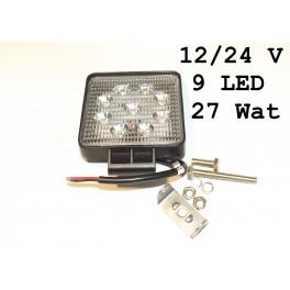 Lampa Halogenowa 12/24V 27W 9 LED ledowa szperacz